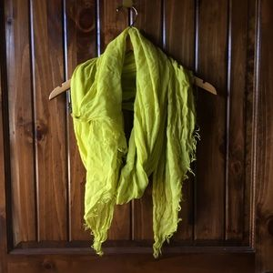 Neon Yellow Fringe Soft Scarf